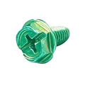 Steren 220-600GR Ground Wire Screw Green Grounding Thread Forming Hex Ground Wire Attachment Multiple Tool Use Hex Head Flat or Phillips Head, Part # 220600-GR