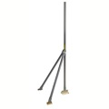 "EasyUp EZSV-5 5' FT Jiffy Slope Mount Double Footed Antenna Mast Heavy Duty Tripod Adjustable Legs 1 1/4"" Inch Tube Size Socket-Lock Tri-mast Outdoor Off-Air Pipe 1 Leg of Base Combo Support Sloped"