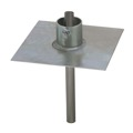Eagle EZ32A Telescoping Antenna Mast Ground Base Plate Mount Heavy Duty up to 2-1/4 Mast 8x8 Plate, 11 Gauge