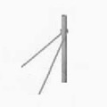 "Winegard DS-5146 Roof Mount Pipe Support for Non-Penetrating Frame Satellite Dish Antenna 1.66"" Pole and Angle Supports, Part # DS-5146"