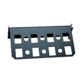 Channel Plus H281 Open House Keystone Mounting Plate Bracket Adaptor Grid and Six Coax Coupler