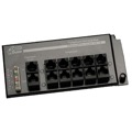 Channel Plus H619 RJ45 Telephone Interface Hub 12 Ports 4 X 12 Telecom Master 4 Incoming Phone Lines Distributed to 12 Telephone Locations with RJ-45 Expansion Jack, Grid Mountable, Part # H-619