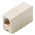 Steren 300-036IV Telephone Coupler In Line 6-Conductor Ivory Voice Adapter Modular 6P6C RJ12 Gold Inline Phone In-Line RJ-12 Cable Female Jack Cord Add-On Snap Plug Adapter, Part # 300036-IV
