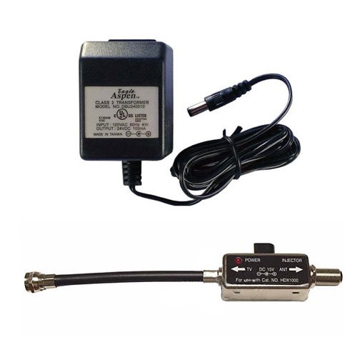 eagle 24 volt dc power inserter injector 24vdc 100 ma power supply 18 vdc inline antenna aerial tv signal amplifier coaxial cable video