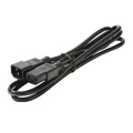 Steren 505-370 6' FT Computer Power Cord Extension 18/3 Conductor Stranded Copper AC 120 Volt 1875 Watt UL Listed 15 Amp Double Insulated Grounded Black Jacket 18 AWG Cable, Part # 505370