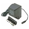 Eagle Universal Supply Adapter 500mA AC/DC with 6 Detachable Plugs Converter Volt UL Transformer AC DC Power Adapter Supply 110 VAC 50-60 Hz with Switchable Voltage Outputs 3, 4.5, 6, 7.5, 9, 12 VDC - OPEN BOX