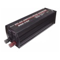"Eagle Power Inverter AC/DC 800 Watt 1000 Watt Peek Single Grounded AC Receptacle with Hook-Up Cables 3 1/2"" W x 3 1/4"" H x 12 D 12 VDC 110-117 VAC Auto Shut-Off Thermal Circuity"