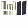 Bishop Pitch Pad Satellite Dish Mounting Hardware Kit with Pitch Pads Sealant Installation Bolt Pack TV Antenna Signal Wall Base Mount Install Rooftop Fastening Anchors, Screws and Lags