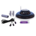 NextGen Remote Extender Genius Purple Remote Control RF Signal Blaster Range Extender Converts Standard IR Remote Control Signal to RF Signal with Transmitter and Receiver Dome and Component 3-Eye Emitter, Part # Purple Genius