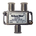 Channel Master 1010IFD Directional Tap 1 Way 10 dB Tap 40 - 2150 MHz T-Type 2 GHz 75 Ohm DC Passive Trunk DC Pass Tap DC Block High Frequency UHF / VHF Video Signal TV Antenna Coax Cable, Part # 1010-IFD