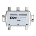 Channel Master 2404IFD 4-Way Splitter 2 GHz All Port Passive Divider Splitter 950 - 2150 MHz Commercial Grade 4 Port DC Divider High Frequency UHF VHF Satellite Power Divider, Commercial Grade, Part # 2404-IFD