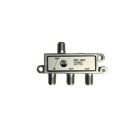 DynaFlex 3 Way Splitter 50-900 MHz Video Signal VHF UHF 75 Ohm RF Cable TV  75 Ohm Coaxial Video Component Divider UHF / VHF Antenna F Connectors