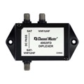 Channel Master 4002IFD Diplexer Satellite Combiner UHF/VHF High Performance DC Passive Signal From Dish and HDTV Antenna 950 - 2150 MHz Combining Antenna / Satellite Signal Diplexer with Weather Boots, Part # 4002-IFD