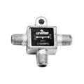 Leviton 830-C5002-000 2 Way Splitter TV Signal 1 Pack 75 Ohm F-Type Coaxial Cable Connection Video Channel Distribution / Combiner for UHF / VHF Aerial Antenna, Part # C5002