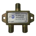 Jayco Diplexer Satellite One Port DC Power Passing 2.4 GHz Mini Antenna Signal Combiner Splitter High Performance Commercial Grade Aerial Video Splitter UHF / VHF Direct Dish Mixer Separator, 2 GHz 75 Ohm DC Pass, Part # 35-SDX100