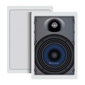 "Sequence 730-204 Premier Series 6 1/2"" Inch Two Way In-Wall Speakers with Pivoting Dome Tweeters, One Pair, 120 Watt, by Steren"