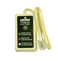 Leviton Phone Tester Modular Line Connector TelePhone Jack Wiring Install Tool, Snap-In Easy Hook-Up with Indicator Light, Part # C2443