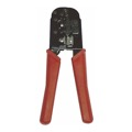 Steren 300-568 Modular Crimp Tool 6x4 6x6 6x8 RJ11 RJ12 RJ45 Cutter Stripper Crimp Tool Cat5 Phone Ethernet Network 3 In 1 Professional Crimper Steel RJ-11 RJ-12 RJ-45 Cutter 6 - 8 Conductor Cable Stripper, Part # 300568