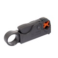 Eagle Coax Cable Stripper HT-322 Rotary Stripping Tool RG-6 Thumb-Wind Style 2 Blade Coax Stripper for RG-6, RG-6Q, RG-59 Coax Cable Adjustable Size for F Connector Install Prep