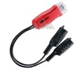 GB Gardner Bender GET-3202 Low Voltage Tester Twin Lead 5-50 Volt AC/DC Alligator Clip Leads Electrical Probe Glow Indicator Probe Visual Output Indicator Light, Part # GET3202
