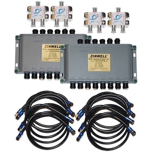 WB616K directv 16 way zinwell multiswitch kit for at9 au9 s sl3 sl5 kaku zinwell 3x4 multiswitch wiring diagram at soozxer.org