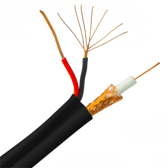 Eagle 500 ft RG59 Coaxial Cable & 18/2 AWG Copper Conductors And ...