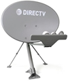 DIRECTV SlimLine Satellite Dish Antenna With Feed Arm And Base Mount, No J-Mount