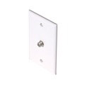 1 Port Coax Wall Plates