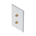 2 Port Coax Wall Plates