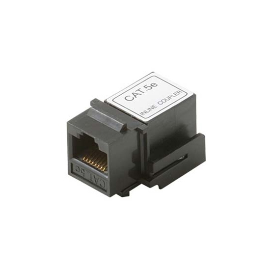 Steren 310-042BK-10 Keystone CAT5E Coupler Jack to Jack RJ45 RJ-45 Black Modular Keystone Insert Coupler Cable Connector Jack Category-5e Telephone Data Line Plug Jack, 10 Pack, Part # 310042-BK-10