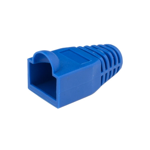 Eagle RJ45 Snagless Boot Blue Slide-On RJ-45 Boot Connector Covers, Round UTP Cable Snag-Less Boot Covers for Strain Relief and Plug Tab Protection, Sold as 50 Pack, Part # A080B5