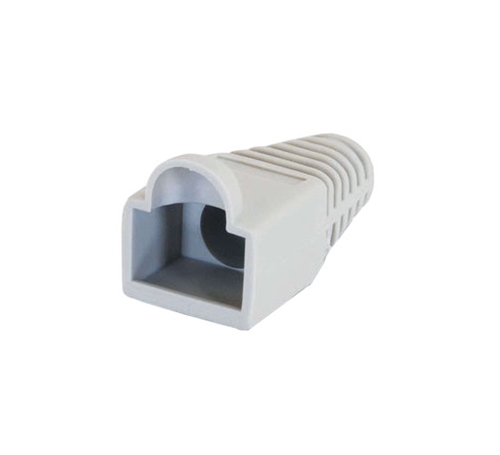 Eagle RJ45 Snagless Boot Grey Slide-On RJ-45 Boot Connector Covers, Round UTP Cable Snag-Less Boot Covers for Strain Relief and Plug Tab Protection, Sold as 50 Pack, Part # A080G5