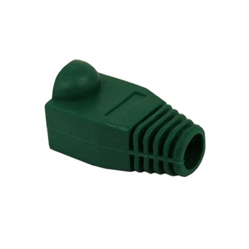 Eagle RJ45 Strain Relief Snagless Boot Green Slide-On RJ-45 Boot Connector Covers, Round UTP Cable Snag-Less Boot Covers for Strain Relief and Plug Tab Protection, Sold as 50 Pack, Part # A080N5