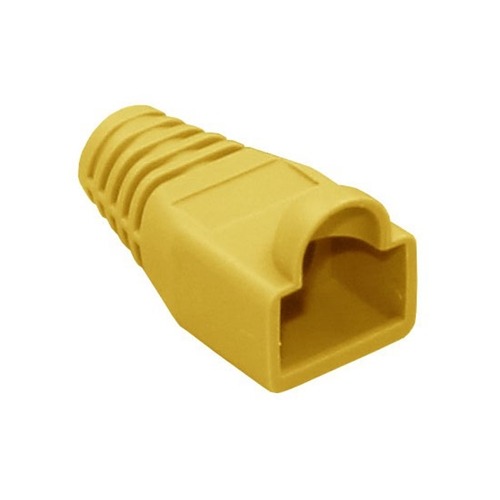 Eagle RJ45 Snagless Boot Yellow Slide-On RJ-45 Boot Connector Covers, Round UTP Cable Snag-Less Boot Covers for Strain Relief and Plug Tab Protection, Sold as 50 Pack, Part # A080Y5