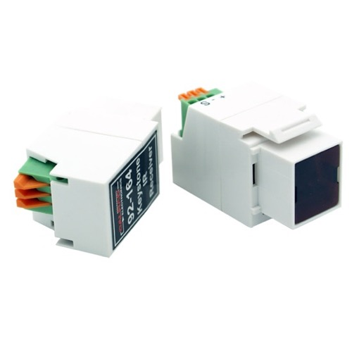 Eagle Keystone IR Target Insert White In Wall Distribution Reciever Jack Transmission Media Over Cat5 IR Insert Jack Plug Wall Plate Module Component