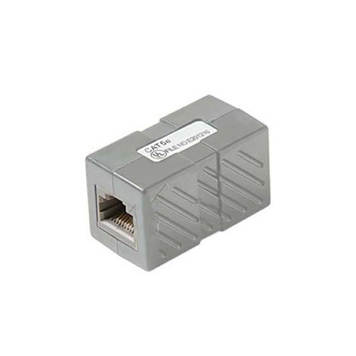 Steren 310-039GR CAT5E Inline Cable Coupler Grey RJ45 350MHz Female to Female Jack RJ-45 Inline Patch Cable Mount In-Line Modular RJ-45 Coupler Cable Connector Category-5e Telephone Data Line Plug Jack, Part # 310039-GY