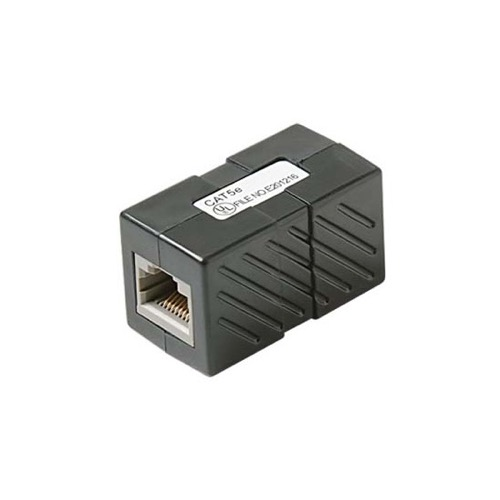 Eagle CAT5e Coupler Black Inline RJ45 Female to Female Patch Cable 350 MHz Mount In-Line Modular RJ-45 Coupler Cable Connector Category-5e Telephone Data Line Plug Jack