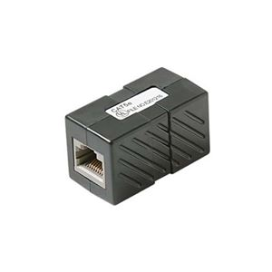 Steren 310-039BK CAT-5E Coupler Black Jack to Jack RJ45 Inline Patch Cable 350 MHz Female to Female Mount In-Line Modular RJ-45 Coupler Cable Connector Category-5e Telephone Data Line Plug Jack, Part # 310039-BK