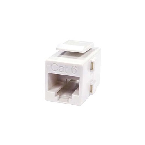 Eagle CAT6 Keystone Coupler White Inline RJ45 Commercial Grade Jack to Jack RJ45 Reverse Configuration Modular Keystone Insert Coupler Cable Connector Telephone Data Line Plug Jack