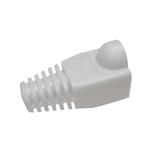 Eagle RJ45 Strain Relief Snagless Boot White Slide-On RJ-45 Boot Connector Covers, Round UTP Cable Snag-Less Boot Covers for Strain Relief and Plug Tab Protection, Sold as Singles, Part # AC080W