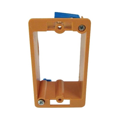 ASKA WMB-10 Wall Plate Mounting Support Bracket Box Drywall Orange Low Voltage Single Gang Holder PVC Insert Telephone Audio Video Device Modular