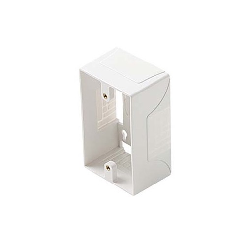 Eagle Surface Mount Outlet Box Single Gang T Junction Switch ABS Plastic Box Single Gang White ABS Plastic Keystone Phone Data Telephone Wall Plate Mounting Support 1 Gang Box Modular