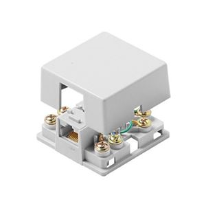 Eagle Telephone Jack Surface Mount White RJ12 6 Conductor 6P6C 6 Wire Conductor Line Plug Jack, Junction Block Cover, White