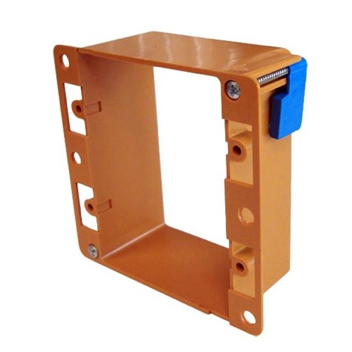 ASKA WMB-20 Wall Plate Plate Mounting Bracket Gang Holder Insert PVC Support Box Drywall Orange Low Voltage Dual 2 PVC Drywall Wall Plate Insert Telephone Audio Video Device Modular