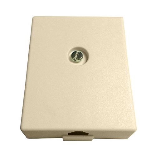 Leviton Telephone Junction Block Ivory 10 Pack Surface Mount Modular 4 Wire Conductor J-Box Line Plug Jack, Part # C0255-I