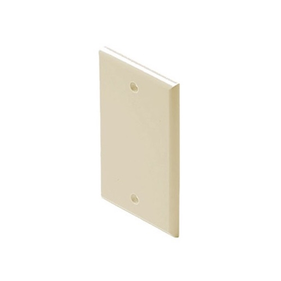 Eagle Blank Wall Plate Ivory Single Gang Blank Wall Plate Flush Mount 1 Pack Single Gang Wall Cover Plate Installation Ivory Electrical Box Cover, High Impact ABS Construction