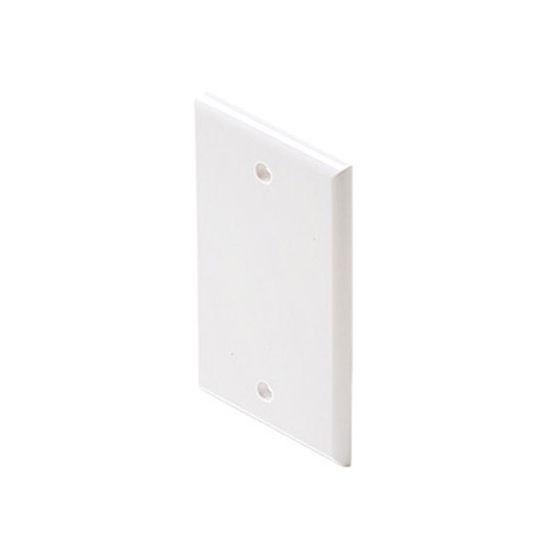 Steren 200-258WH Blank Wall Plate White Single Gang Flush Mount Wall Cover Plate White Installation Box Cover, High Impact ABS Construction, 1 Pack, Part # 200258-WH