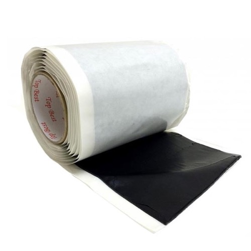 "SureSeal Pitch Pad Sealing Mastic Compound 6 1/2 x 10 FT Bishop Mastic Roll 10' FT x 6 1/2"" Inch Wide Tacky Black Flexible Large Pitch Pad PV2665 Self Seal Tape Adhesive Insulating Weather-Proofing Moldable Reusable Part # PV-2665"