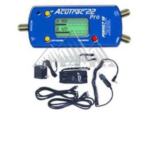 Acutrac 22 Pro Dual Satellite Meter System LNBF Alignment, DIRECWAY and Super Dish Systems, 22KHz Switching, Rechargeable Battery, Part # ACUTRAC22PRO