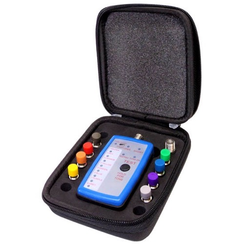 Signalcat DGT-CT-08 Coaxial Cable Mapper 8-Way CATV Tester Multi-Run Signal Beeper Satellite Security LED Powered Coaxial Cable Run Finder / Locator Set-Up, Includes 8 Serial Number Terminators, Part # DGTCT-08